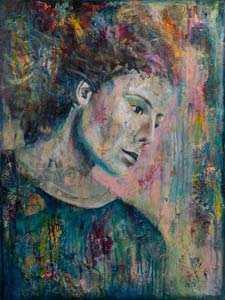 Color flow - mixed media - Ariska Keldermann-Simons
